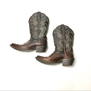 Ariat Legend Western Boots Oiled Brown Square Toe
